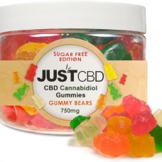 JUST CBD (SUGAR FREE) GUMMY BEARS 750MG